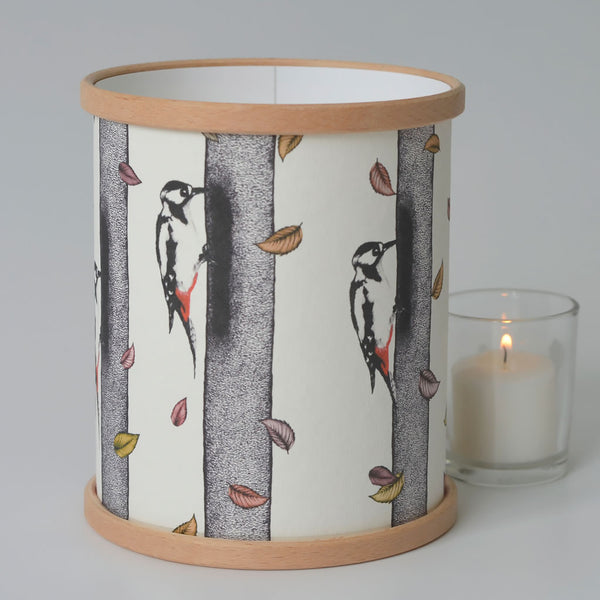 Woodpecker Candle Cover
