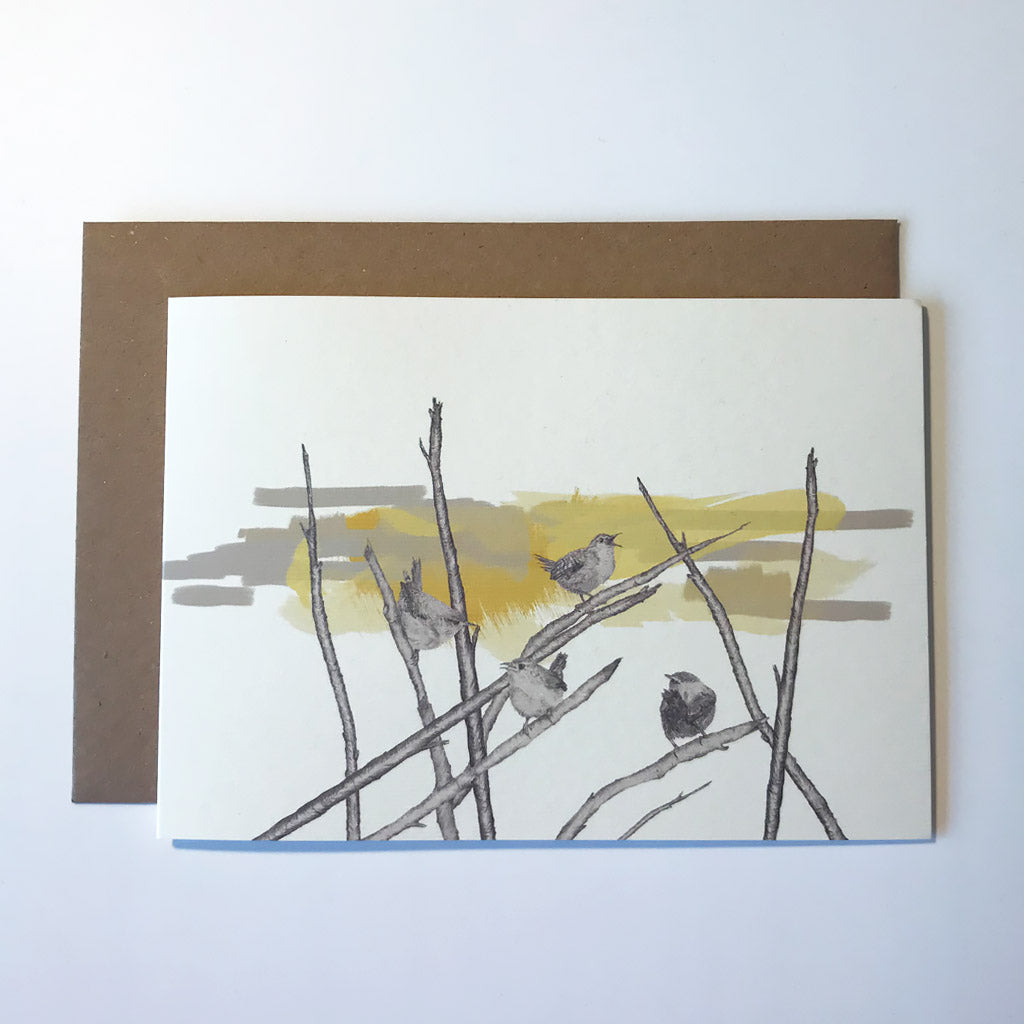 Wrens Greetings Card
