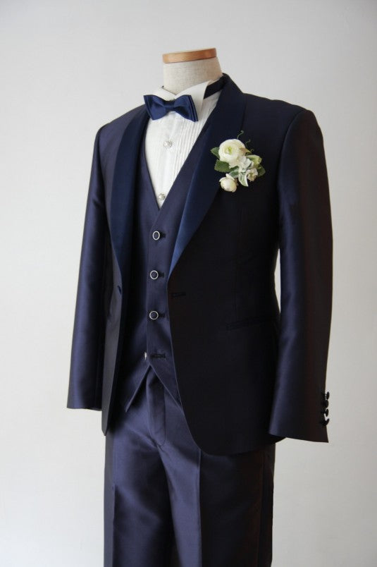 Kairos(カイロス)Short Navy Tuxedo | Navy×Navy | Shawl Collar【東京店】【大阪店】