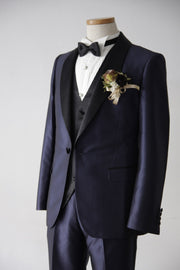 Short Navy Tuxedo | Navy×Black | Shawl Collar【東京店】【大阪店】