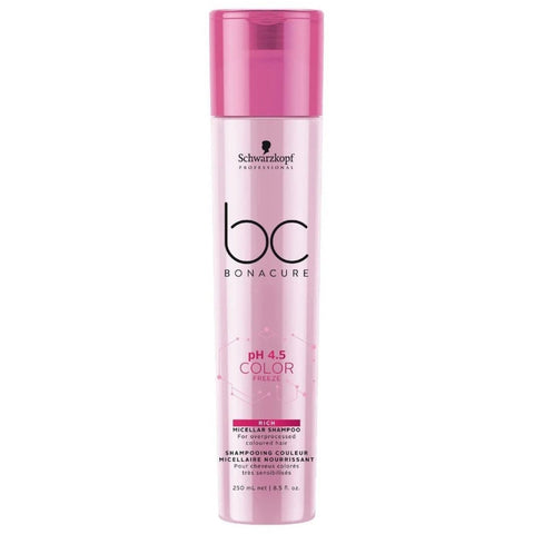 Schwarzkopf BC BONACURE Ph 4.5 Color Freeze Rich Micellar Shampoo 250ml Hudson Hair | Award Winning Hair Salon Brisbane