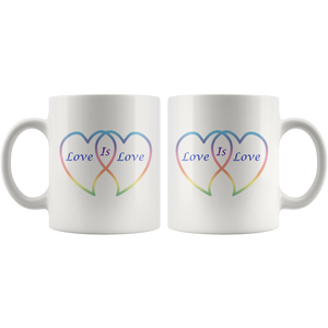Love is Love in Rainbow Hearts 11 wht