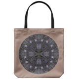 Pasque Flower Mandala-Tote Bag