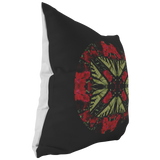 Swallowtail Butterfly on Dianthus Flower Mandala Pillow