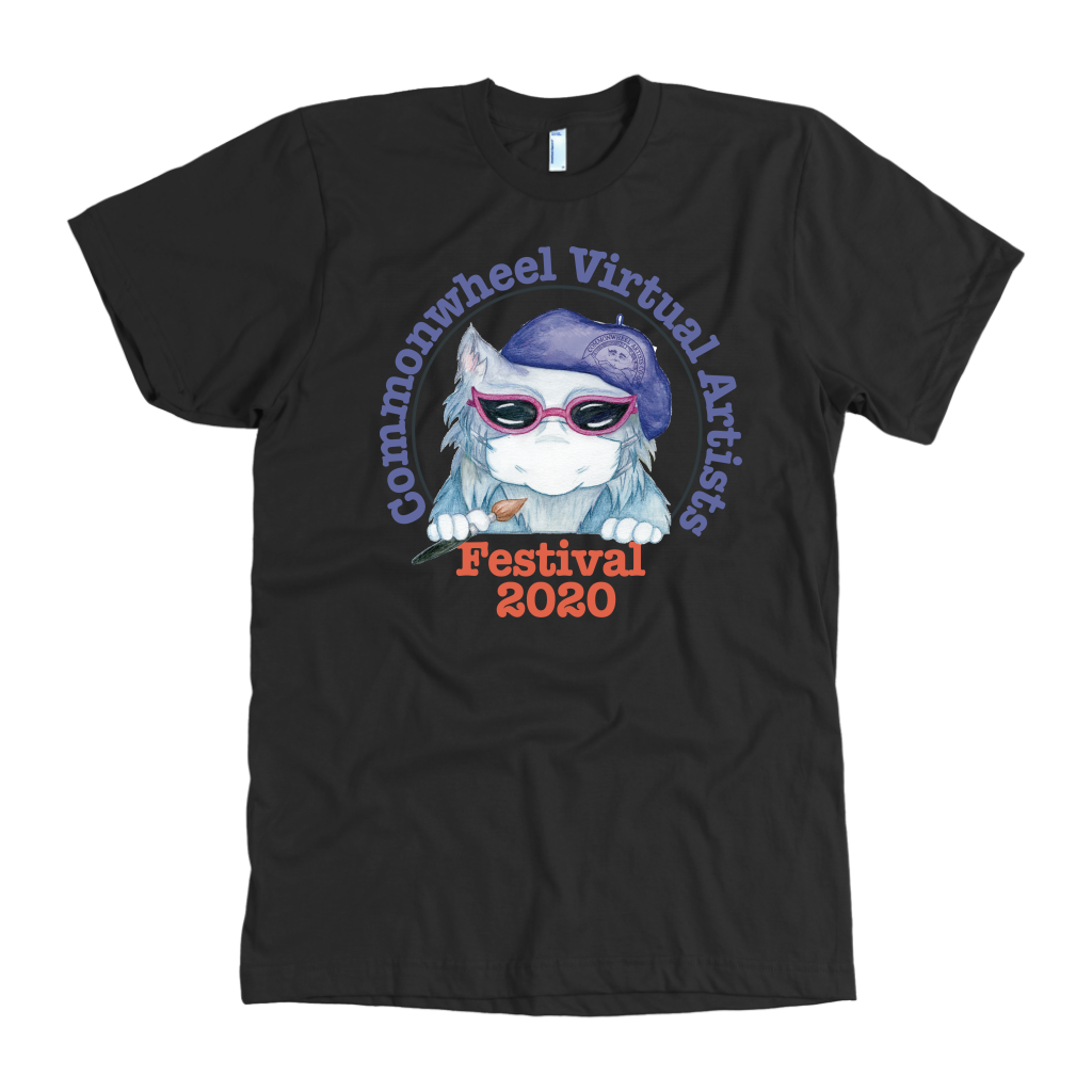 Virtual Art Fest 2020 Mask Kitty Men's T