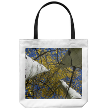 Load image into Gallery viewer, Golden Aspen Leaves View Blue Sky-Tote Bag