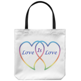 Love is Love on 18in Reusable Tote Bag