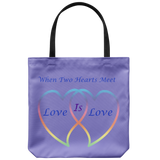 When two Hearts Love is Love-18in Reusable Bag