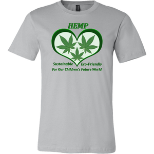 Hemp For Sustainable Future for Children's-3 Hemp Leaves Floating in a Green Heart