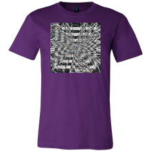 "Load image into Gallery viewer, ""Spiral Plant Energy"" is a colorful artitistic T-shirt"