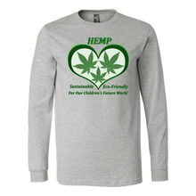 Load image into Gallery viewer, Hemp for Sustainable Future for Children - 3 Leaves Floating in Green Heart
