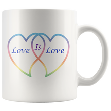 Load image into Gallery viewer, Love is Love in Rainbow Hearts 11 wht