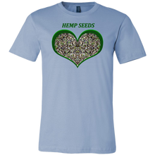 Load image into Gallery viewer, Show Some Love for Hemp Seeds in Green Heart T-shirt