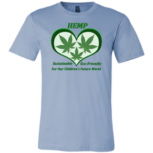 Load image into Gallery viewer, Hemp For Sustainable Future for Children's-3 Hemp Leaves Floating in a Green Heart