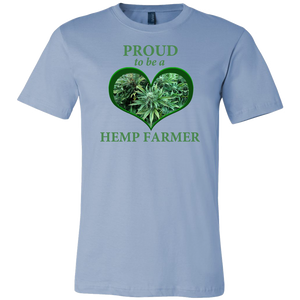 """Proud to be a Hemp Farmer"" Hemp in Green Heart T-shirt"