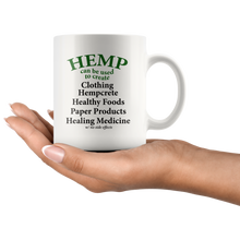 Load image into Gallery viewer, Hemp Can Be Use to Create Eco-friendly Items - 11 oz. white ceramic mug