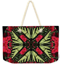 Load image into Gallery viewer, Monarch On Dianthus Kaleidoscope - Weekender Tote Bag