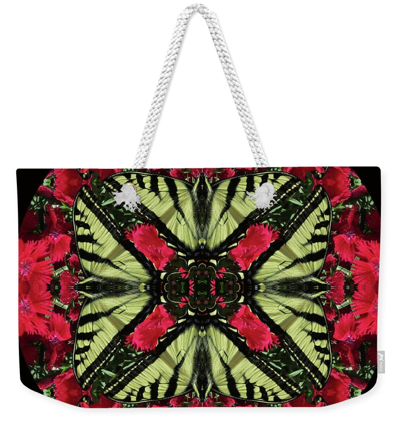 Monarch On Dianthus Kaleidoscope - Weekender Tote Bag