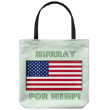 "Shout out ""Hurray For Hemp! on 18"" Reusable Tote Bag"