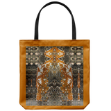 Orange Alien and Rockets-Tote Bag