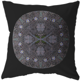 Harbinger of Spring Pasque Flower Mandala Pillow