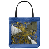 Golden Aspen Leaves View Blue Sky-Tote Bag