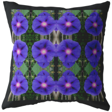 Load image into Gallery viewer, Glorious Morning Glory Flowers Pillow