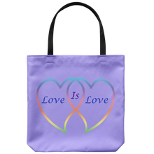 Load image into Gallery viewer, Love is Love on 18in Reusable Tote Bag