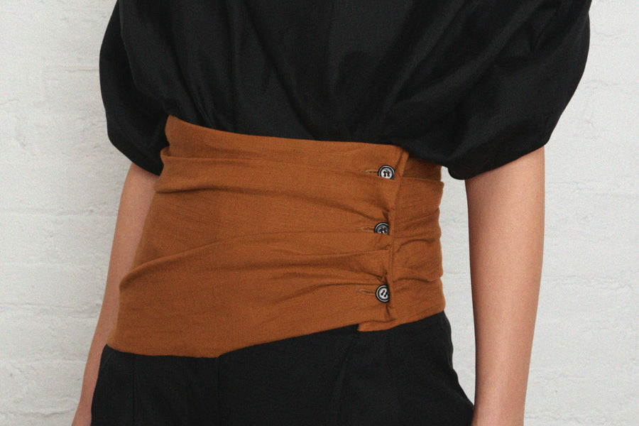 Cummerbund Button Pants