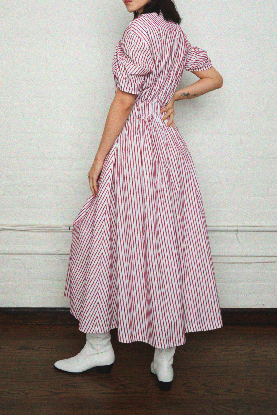 Shirred Waist Tea Dress
