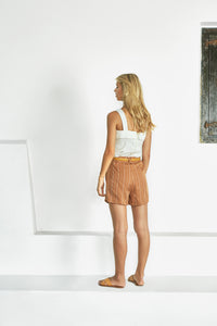 The Sabrina Short – Francesca Stripe by Sancia Online at Jessie sue with FREE EXPRESS shipping in Australia, no minimum spend, AFTERPAY, FREE RETURNS within Australia, 100% SAFE & SECURE. WITH MORE TAILORED LINES, THE SABRINA'S FLAT FRONT SECTION AND LOOSE CUT ARE THE MOST FLATTERING STYLE OF SHORTS YOU CAN IMAGINE
