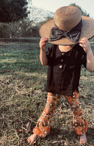 Arlo Top Black, King Raja Organics, Australian Girls Clothing, Organic Children's Clothing Australia