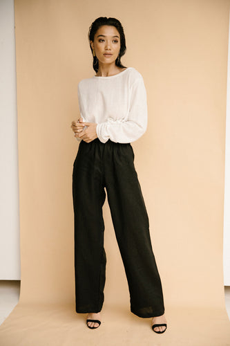 Sustainable clothing brands, Before Anyone Else Clothing, Resort wear, Resort wear Australia, Resort wear clothing, Loungewear, Loungewear Australia, Womens loungewear, Black linen pants