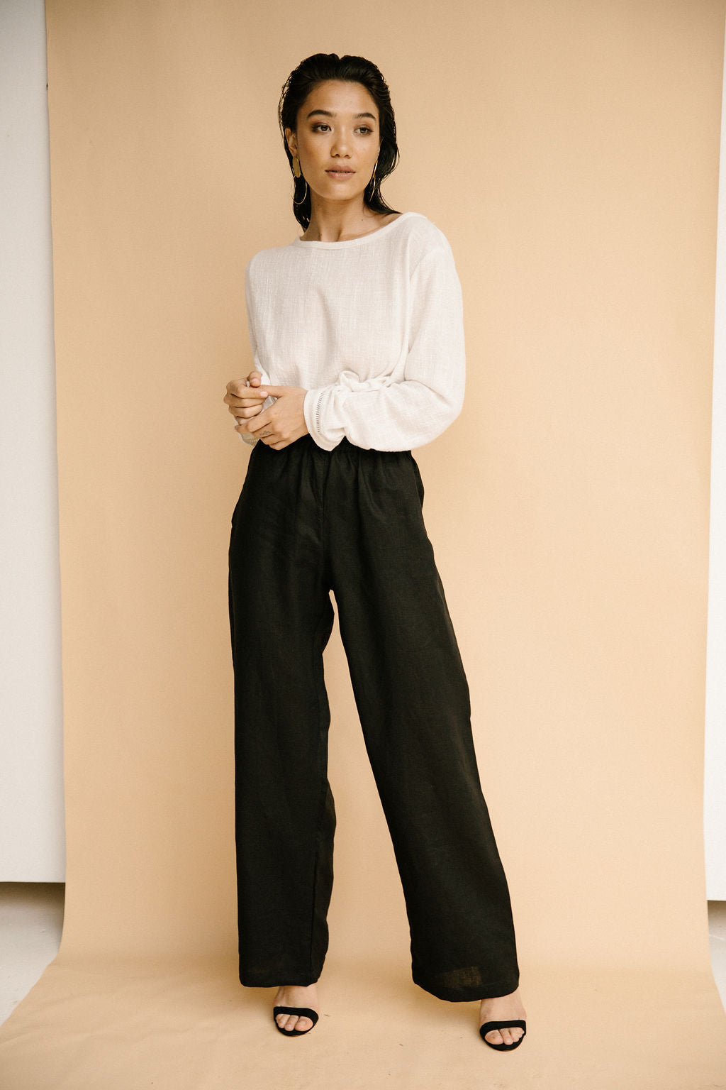 Alexa Pant Black Before Anyone Else Womens Pants Black Womens Linen Black Pants Free Express Shipping Free Standard Shipping Worldwide Afterpay $20 off your first order