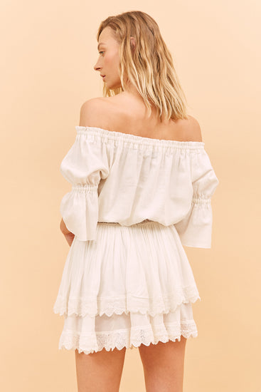 Before Anyone Else Clothing Isabella Crop Top Off  White Resort wear Australia Resort wear clothing Sustainable clothing Free Express Shipping Sustainable Crop Tops
