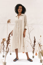 Load image into Gallery viewer, Before Anyone Else clothing Jarrah Shirt Dress Natural sustainable clothing brands resort wear australia sustainable clothing loungewear free express shipping