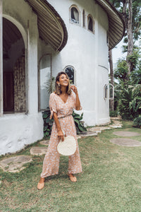 THATCH + CATCHER | PIA JUMPSUIT - PEACH CANDY