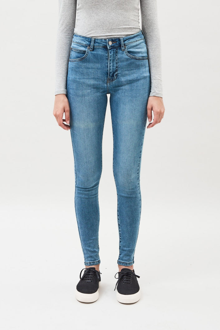 Dr Denim Erin Yonder Blue Wash Jeans Womens skinny fit denim Womens mid rise jeans  Free Express Shipping Free Standard Shipping Worldwide Afterpay $20 off your first order