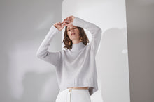 Load image into Gallery viewer, Elka Collective Amaretta knit, free shipping, Sustainable knitwear, Ethical knitwear, Soft cotton wool yarn knitwear, laid back luxe knitwear, Sustainable Australian Clothing Brand, Sustainable knitwear on sale