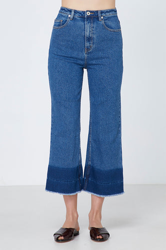 Elka Collective Joanie Jean Womens wide leg cropped jean Womens cotton denim slight stretch jean Free Express Shipping Free Standard Shipping Worldwide Afterpay $20 off your first order