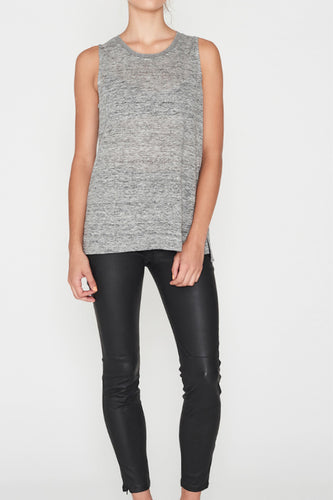 Elka Collective Linen Tank Grey Marel Womens linen tank Womens grey marle tank Free Express Shipping Free Standard Shipping Worldwide Afterpay $20 off your first order