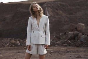 Elka Collective Ornella Blazer, free shipping, Sustainable jackets, sustainable blazers, ethical blazers, ethical jackets, linen jackets, linen blazers, tailored jackets, tailored blazers, laid back luxe jackets, laid back luxe blazers, summer jackets, summer blazers, wardrobe staples