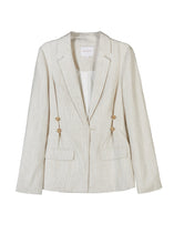Load image into Gallery viewer, Elka Collective Ornella Blazer, free shipping, Sustainable jackets, sustainable blazers, ethical blazers, ethical jackets, linen jackets, linen blazers, tailored jackets, tailored blazers, laid back luxe jackets, laid back luxe blazers, summer jackets, summer blazers, wardrobe staples