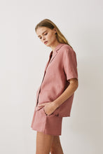 Load image into Gallery viewer, Jord Remy Short – Rosewood Pink Linen Womens linen short womens sleepwear womens pink linen leisurewear womens relaxed linen short Free Express Shipping Loungewear Australia