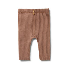 Load image into Gallery viewer, Knitted Rib Leggings, Wilson & Frenchy, Boys Kids Clothes, Unisex Kids Clothes, Organic Kids Clothing Australia, Baby Boy Clothes, Organic Baby Clothing Australia, Free Express Shipping