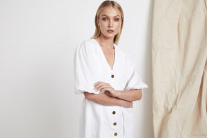 MLM Label Tuscan Linen Dress White Linen Womens Dresses White Womens Linen Dresses Free Express Shipping Free Returns Free Standard Shipping Worldwide Afterpay $20 off your first order