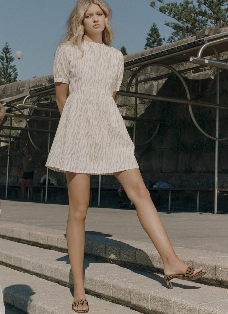 RUE STIIC | COLLINS MINI DRESS - LE TIGRE - SAND