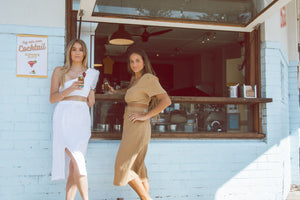 Sustainable Clothing Brands, Resort wear Australia, Sustainable clothing, Remi Lane Designs, Cali Midi Skirt Tan, Free Express Shipping