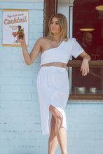 Load image into Gallery viewer, Sustainable Clothing Brands, Resort wear Australia, Sustainable clothing, Remi Lane Designs, Cali Midi Skirt White, Free Express Shipping