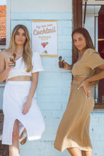 Load image into Gallery viewer, Sustainable Clothing Brands, Resort wear Australia, Sustainable clothing, Remi Lane Designs, Cali Off The Shoulder Top Tan, Free Express Shipping, Cotton Double Gauze Tops